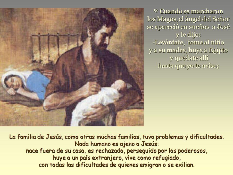 Texto: Mateo 2, 13-15.19-23.La Sagrada Familia. Jesús, María y José.
