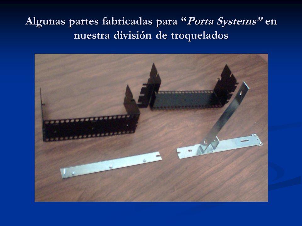 Algunas partes fabricadas para Porta Systems en nuestra división de troquelados