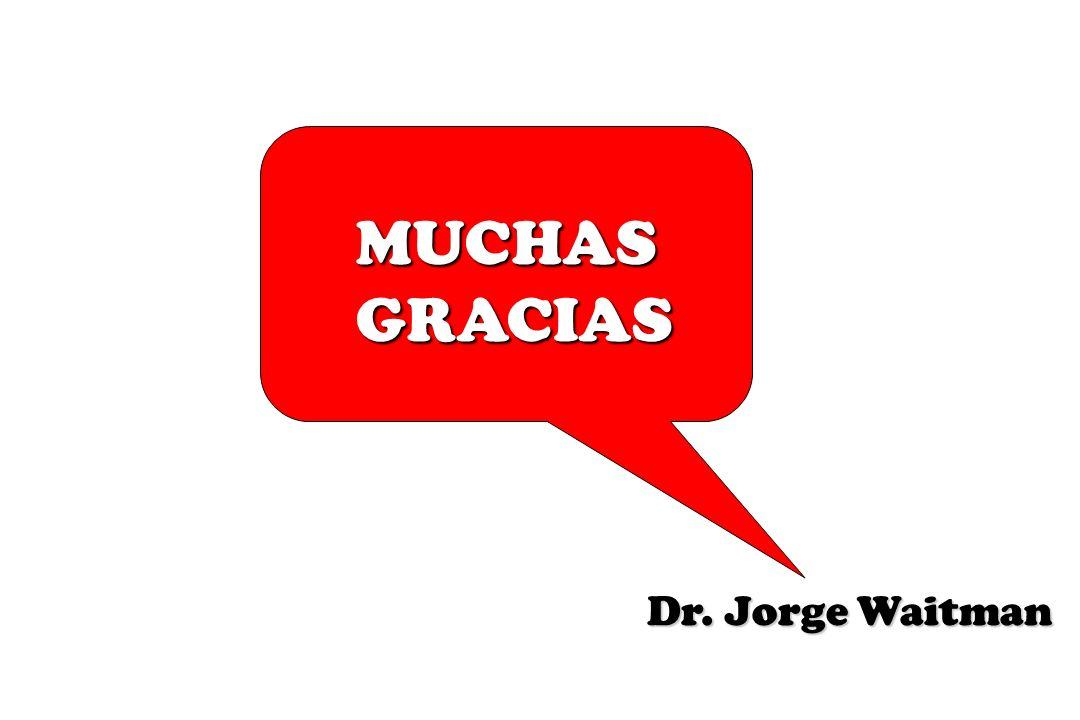 MUCHAS GRACIAS GRACIAS Dr. Jorge Waitman