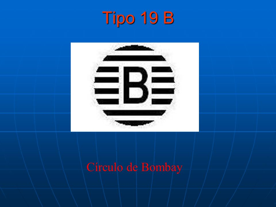 Tipo 19 B Círculo de Bombay