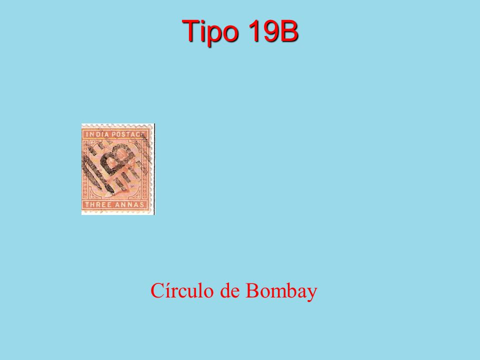 Tipo 19B Círculo de Bombay