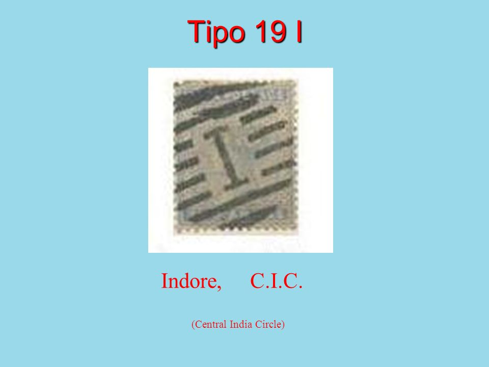 Tipo 19 I Indore, C.I.C. (Central India Circle)