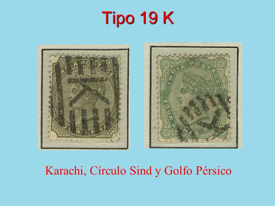 Tipo 19 K Karachi, Círculo Sind y Golfo Pérsico