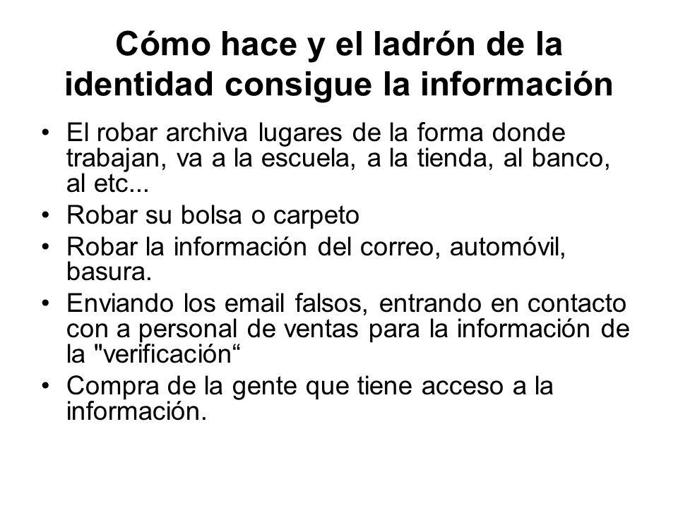 Cómo hace y el ladrón de la identidad consigue la información El robar archiva lugares de la forma donde trabajan, va a la escuela, a la tienda, al ba