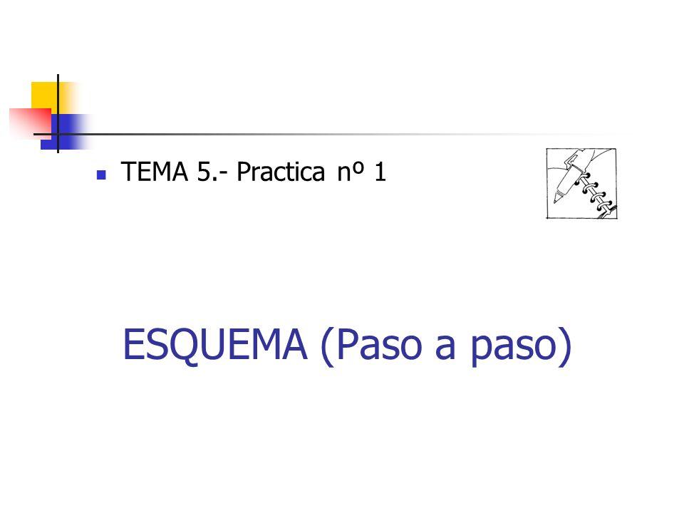 ESQUEMA (Paso a paso) TEMA 5.- Practica nº 1