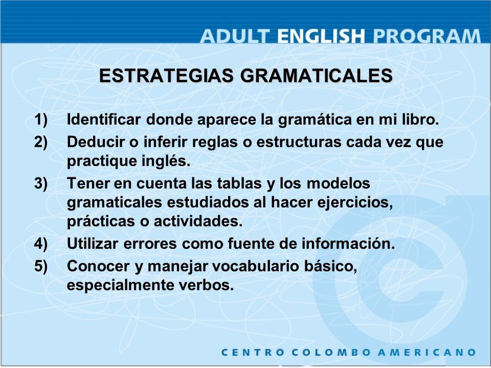 PÁGINAS http://www.cambridge.or g/touchstonearcade/ Gramática Vocabulario Escucha Lectura http://www.longman.co m/ae/topnotch/ Gramática Vocabulario Escucha Lectura