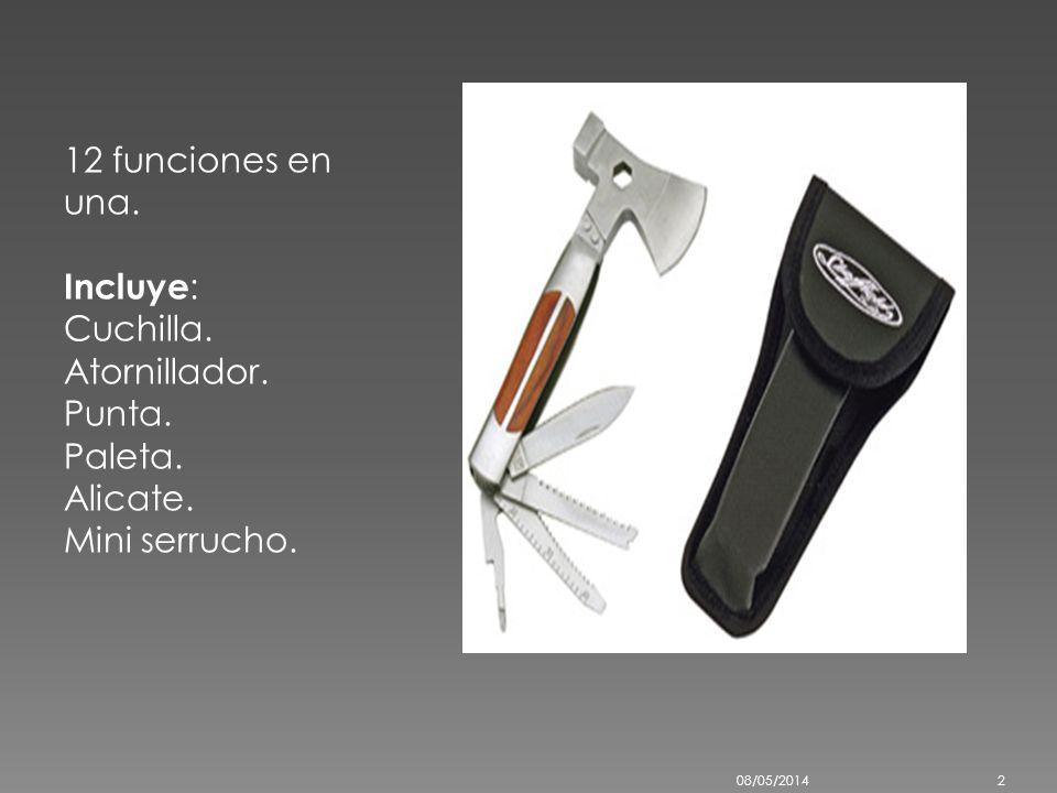 El hacha de guerra es un arma de hierro con forma de cuchilla que consta de una anilla por la cual se mete el palo que sirve de mango. La diferencia e
