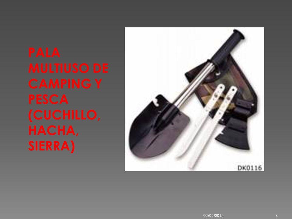 PALA MULTIUSO DE CAMPING Y PESCA (CUCHILLO, HACHA, SIERRA) 08/05/20143
