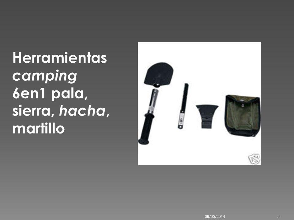 Herramientas camping 6en1 pala, sierra, hacha, martillo 08/05/20144