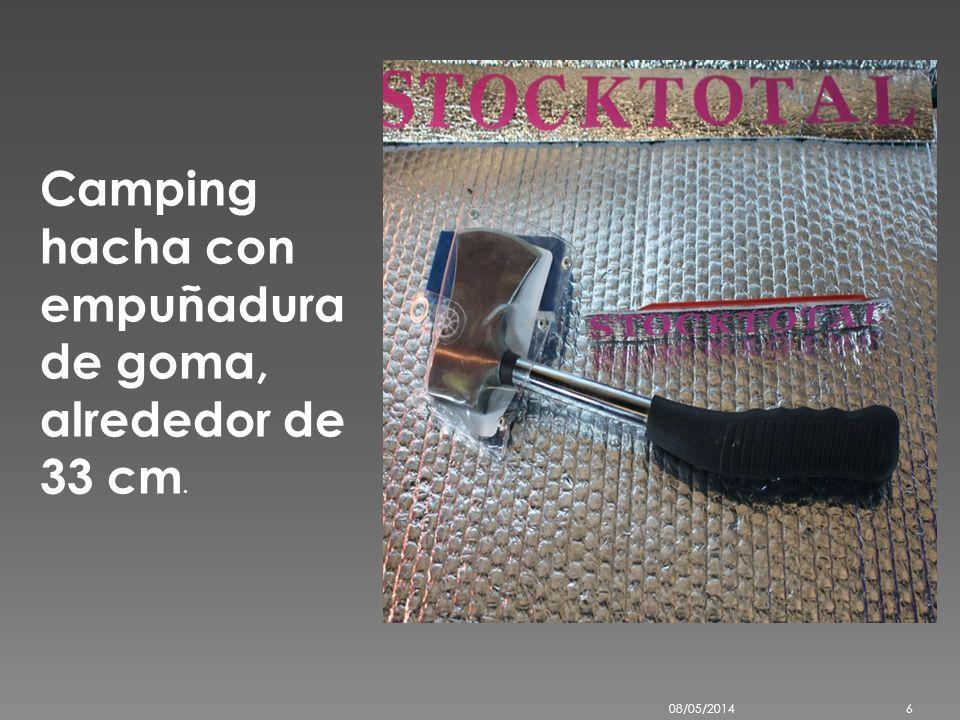 Camping hacha con empuñadura de goma, alrededor de 33 cm. 08/05/20146
