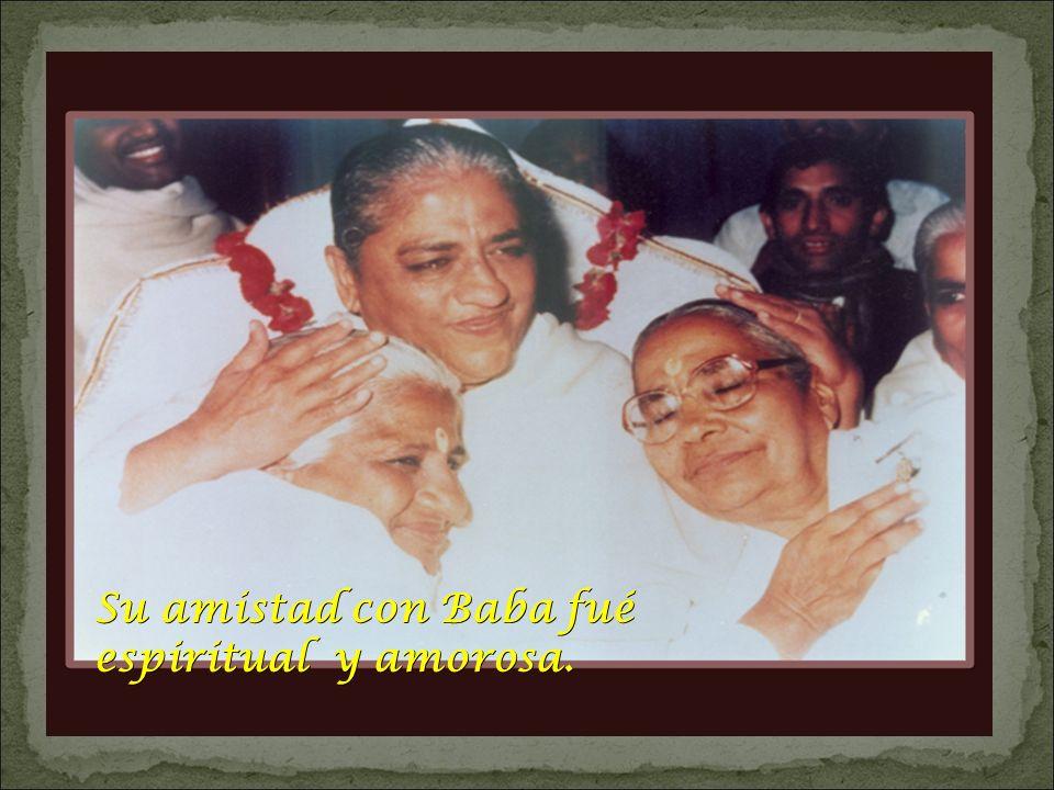 Su amistad con Baba fué espiritual y amorosa.