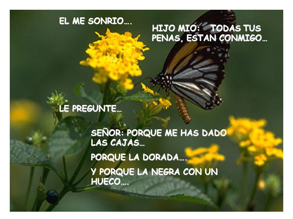 MOSTRE A DIOS EN HUECO….. Y REFLEXIONE EN VOZ ALTA: ME PREGUNTO DONDE HABRAN IDO MIS PENAS…