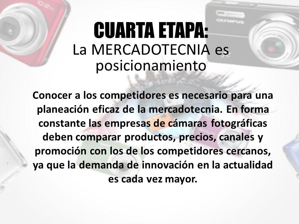CUARTA ETAPA: La MERCADOTECNIA es posicionamiento Conocer a los competidores es necesario para una planeación eficaz de la mercadotecnia.
