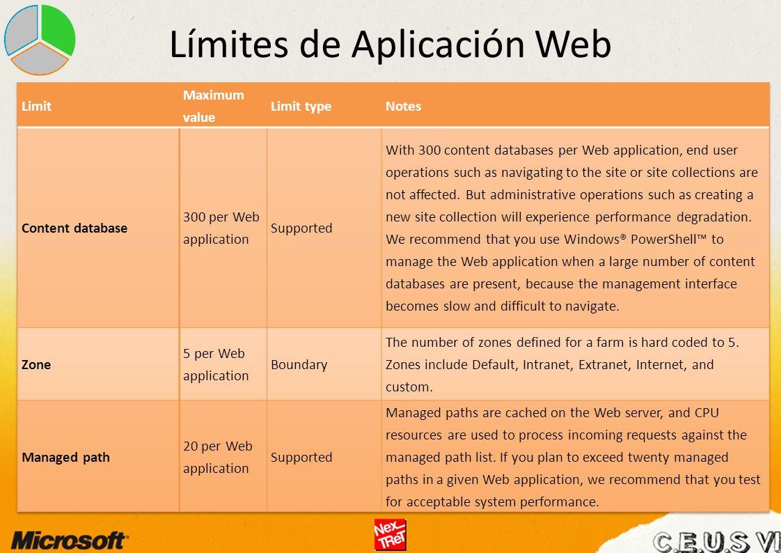 Límites de Aplicación Web