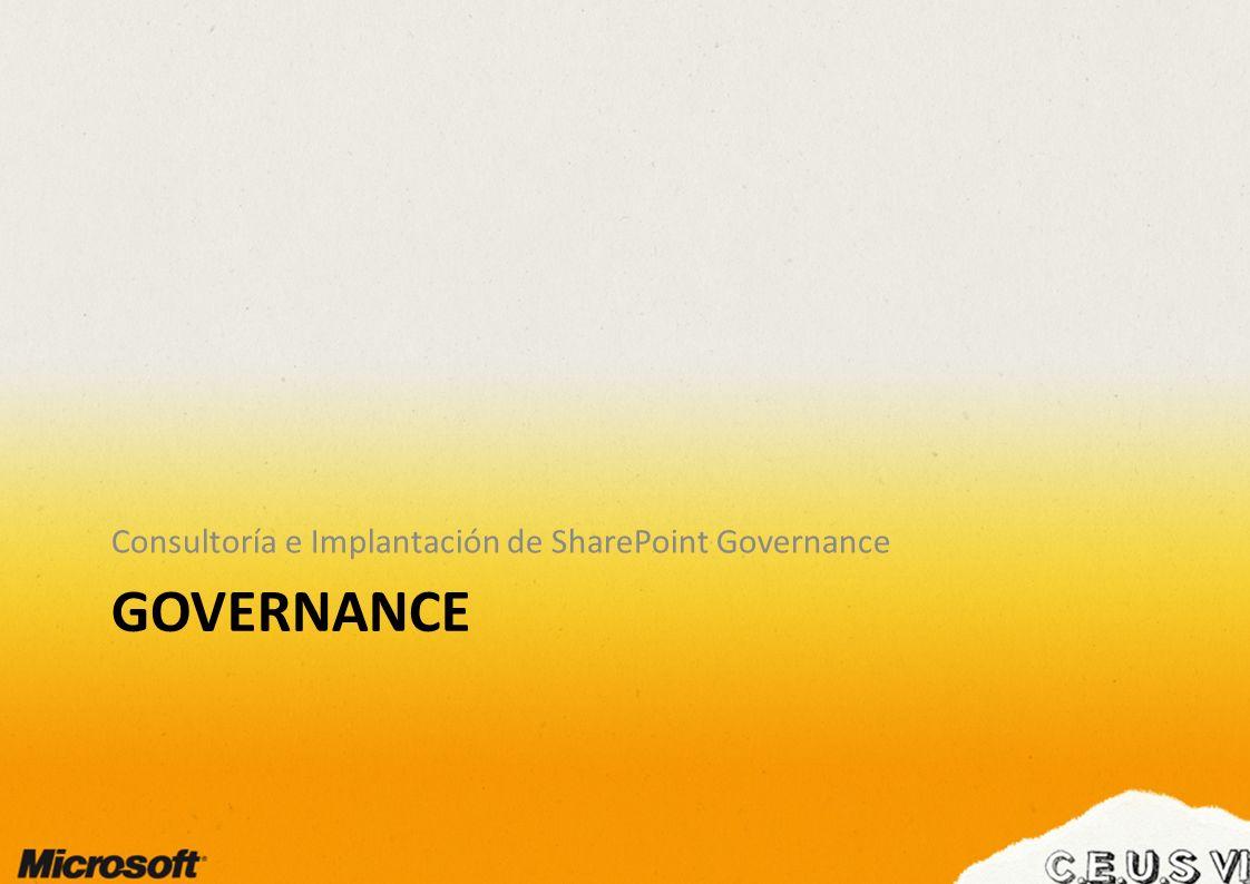 Governance: Definición Governance es el conjunto de políticas, roles, responsabilidades y procesos que orienta, dirige y controla la forma en la que las áreas de negocio de una organización y los equipos de IT cooperan para lograr los objetivos de negocio.
