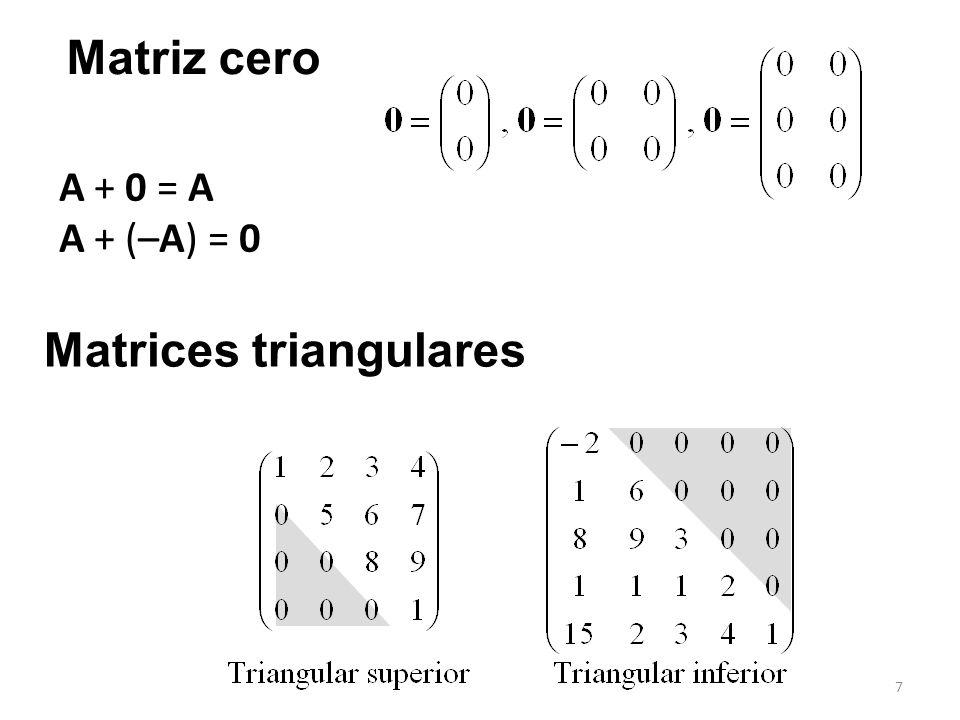 18 det A = a 11 C 11 + a 12 C 12 + a 13 C 13 El cofactor de a ij es C ij = (–1) i+ j M ij donde M ij se llama menor....
