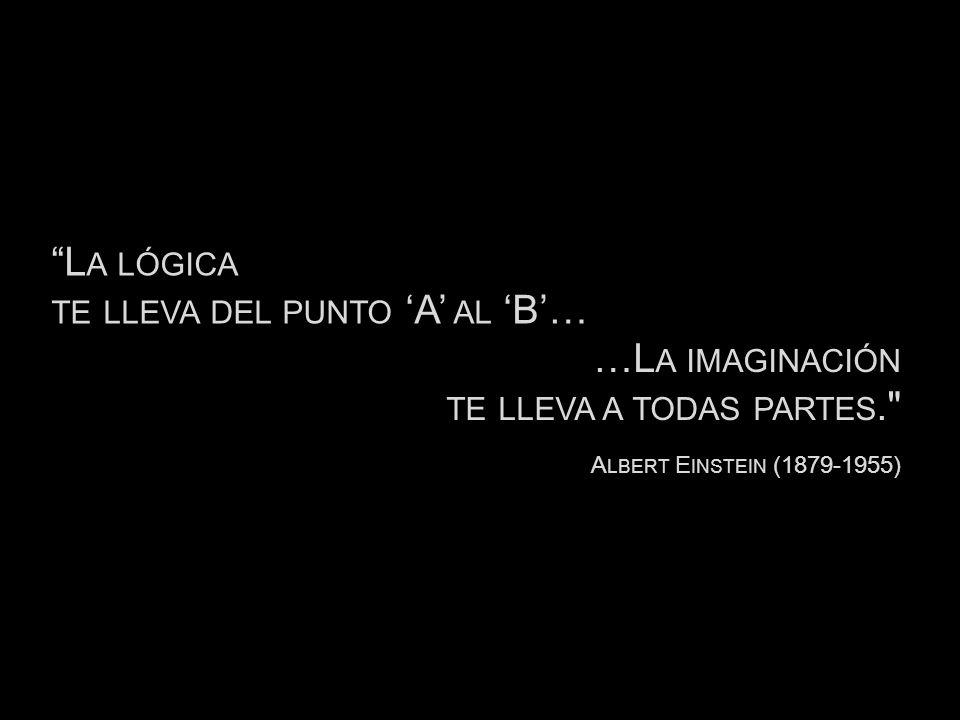 L A LÓGICA TE LLEVA DEL PUNTO A AL B… A LBERT E INSTEIN (1879-1955) …L A IMAGINACIÓN TE LLEVA A TODAS PARTES.