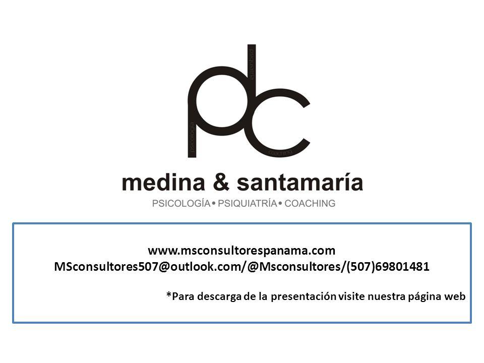 www.msconsultorespanama.com MSconsultores507@outlook.com/@Msconsultores/(507)69801481 *Para descarga de la presentación visite nuestra página web
