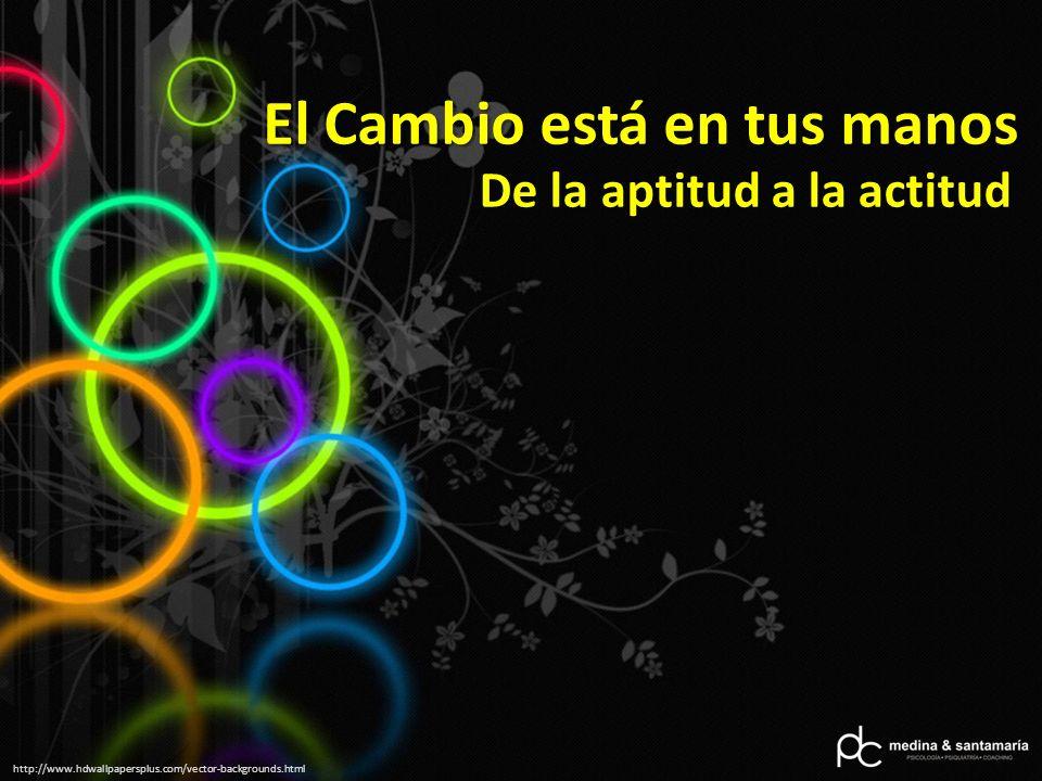 http://www.hdwallpapersplus.com/vector-backgrounds.html El Cambio está en tus manos De la aptitud a la actitud