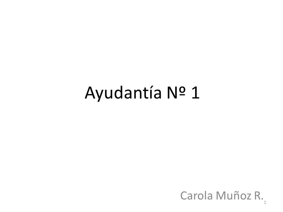 Ayudantía Nº 1 Carola Muñoz R. 1