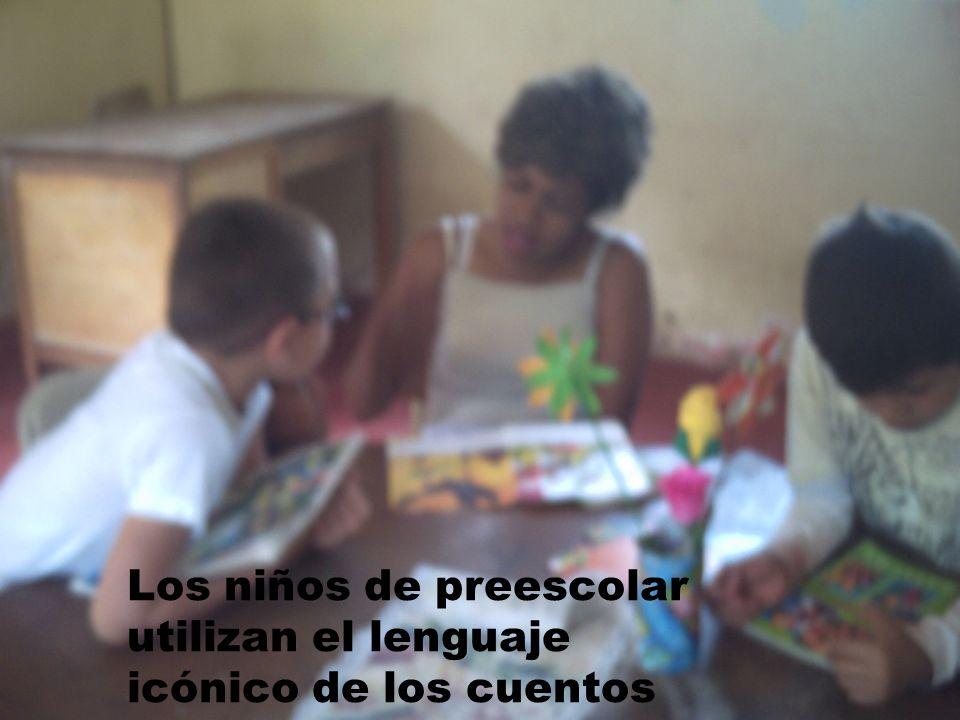 Los niños de preescolar utilizan el lenguaje icónico de los cuentos