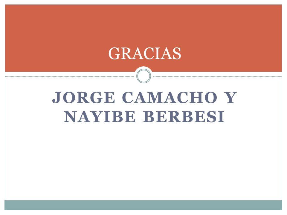 JORGE CAMACHO Y NAYIBE BERBESI GRACIAS