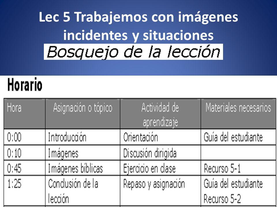Lec 5 Trabajemos con imágenes incidentes y situaciones 2 Prof.