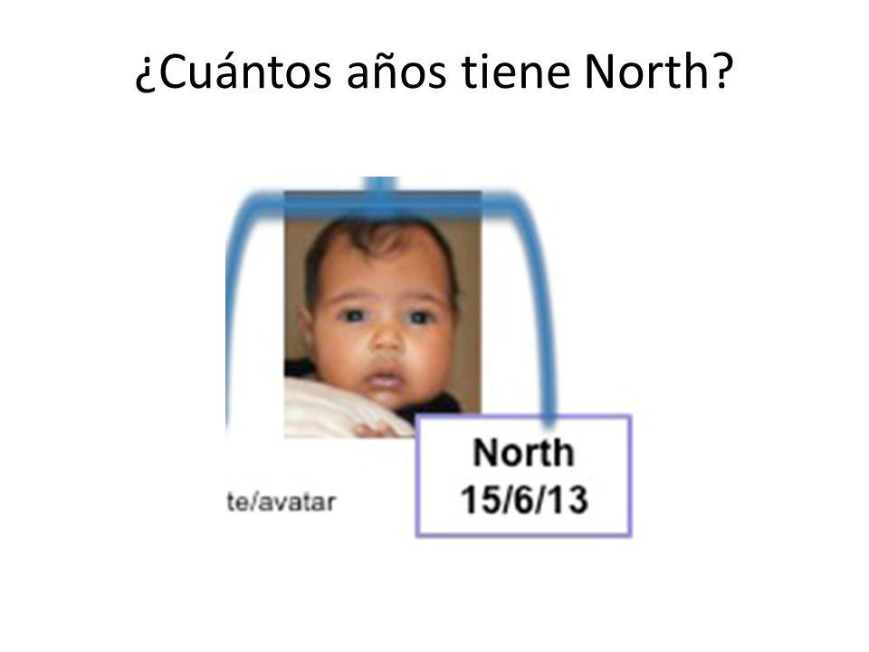 ¿Cuántos años tiene North?