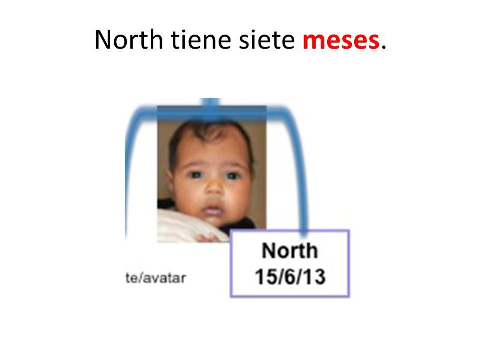 North tiene siete meses.