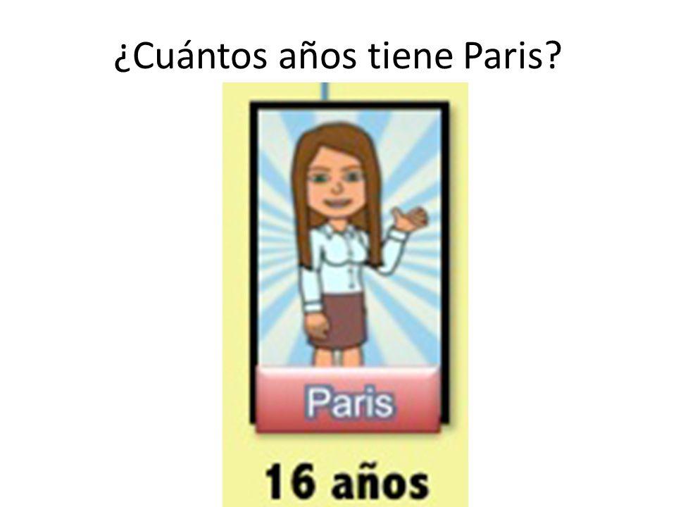 ¿Cuántos años tiene Paris?