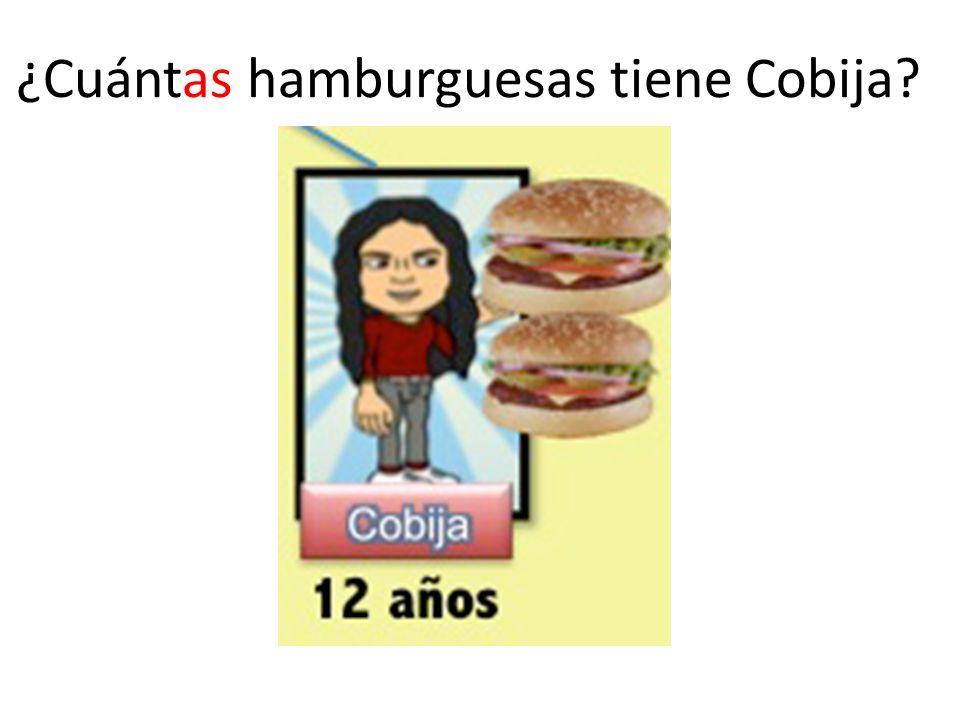 ¿Cuántas hamburguesas tiene Cobija
