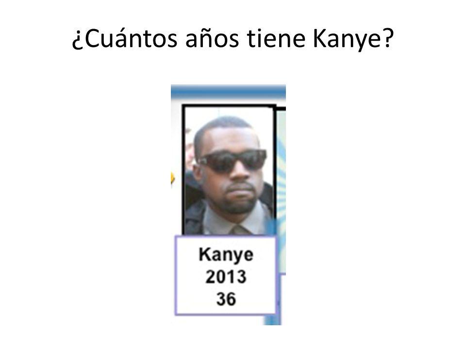 ¿Cuántos años tiene Kanye?
