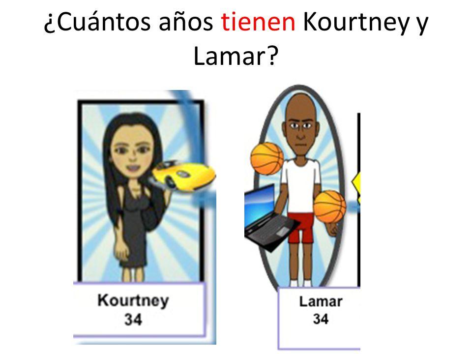 ¿Cuántos años tienen Kourtney y Lamar?