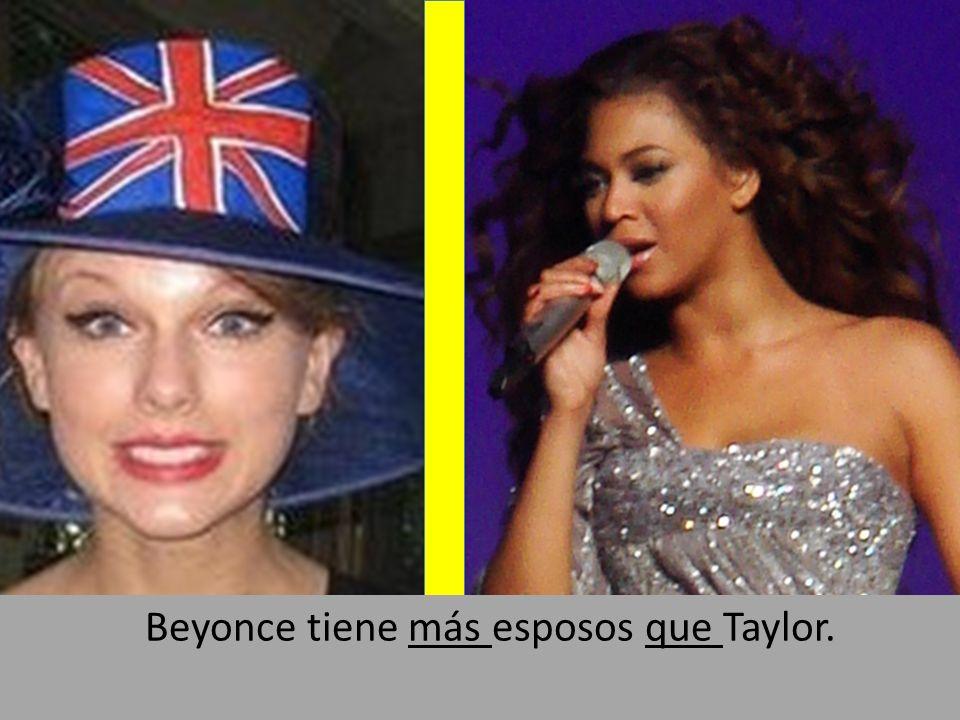 By Alain Zirah: flickr.com/photos/azed13/590084957 Beyonce tiene más esposos que Taylor.