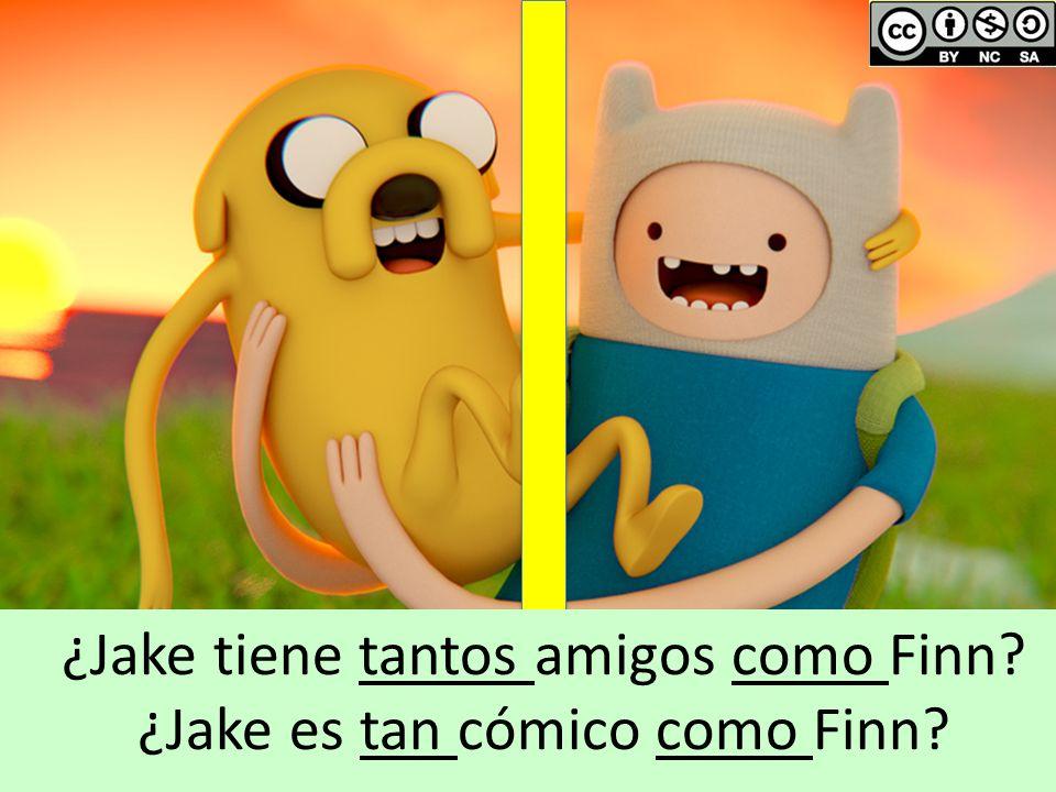 By hperticarati: flickr.com/photos/hperticarati/8199117966 ¿Jake tiene tantos amigos como Finn? ¿Jake es tan cómico como Finn?