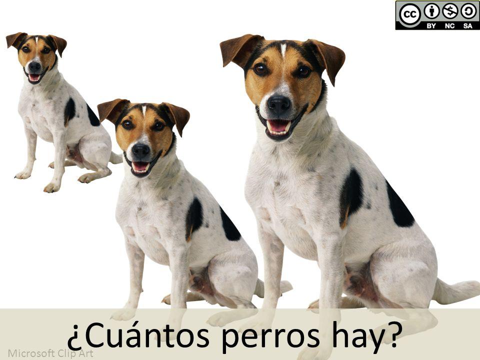 Microsoft Clip Art ¿Cuántos perros hay?