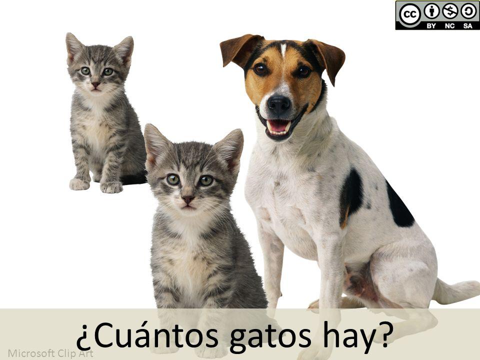 Microsoft Clip Art ¿Cuántos gatos hay?