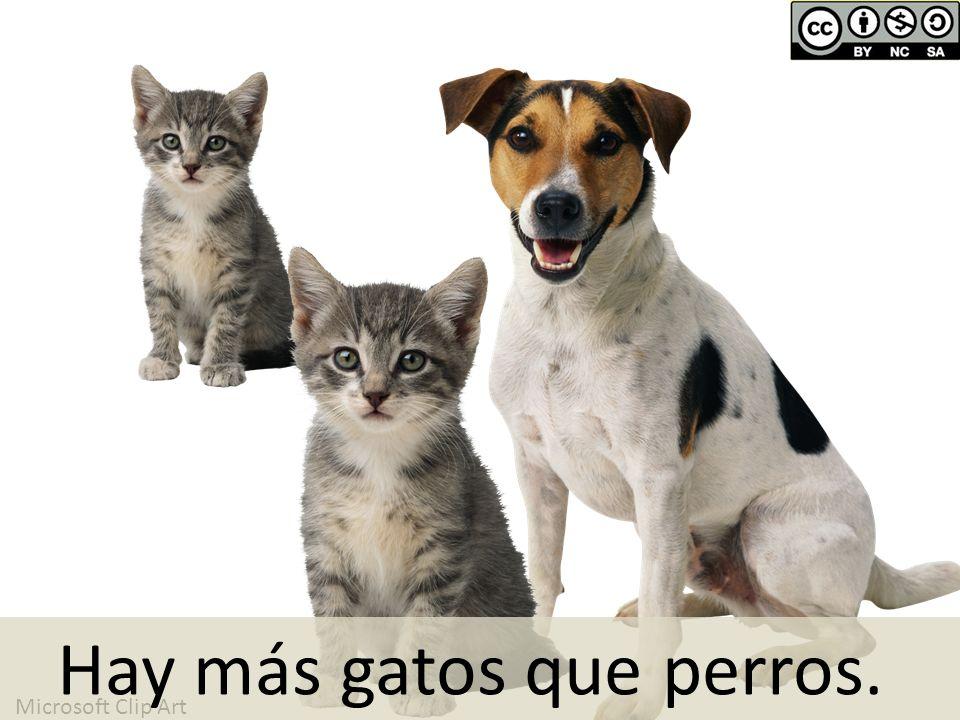 Microsoft Clip Art Hay más gatos que perros.