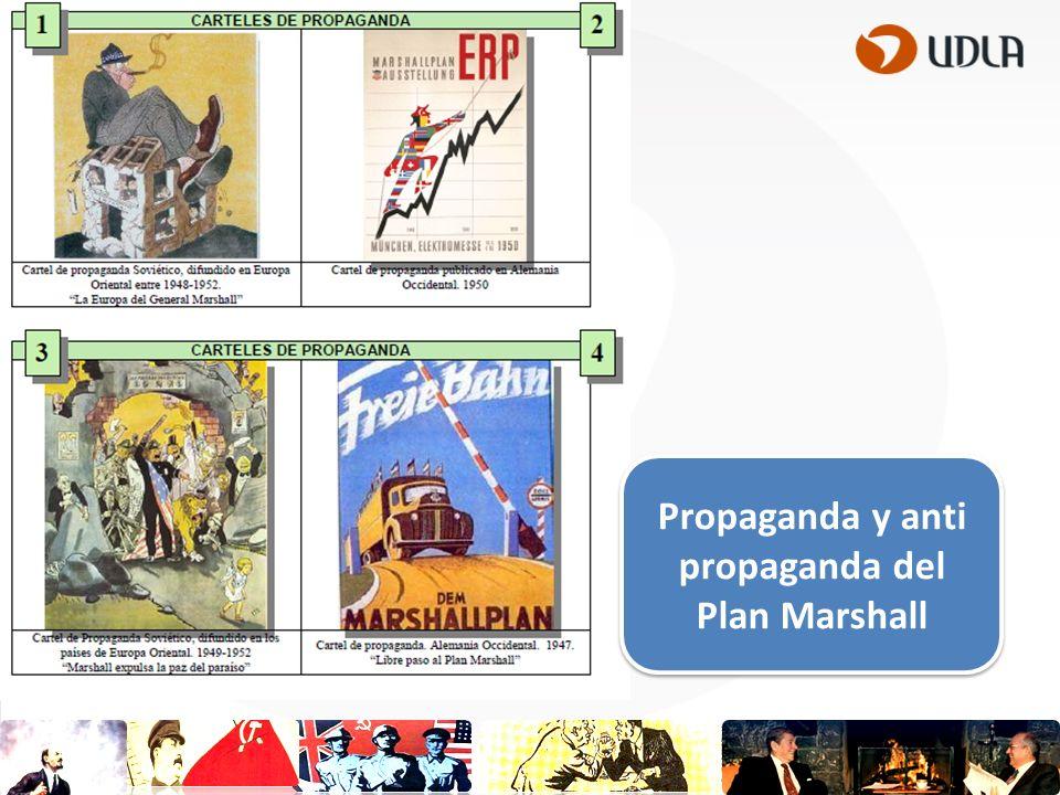 Propaganda y anti propaganda del Plan Marshall