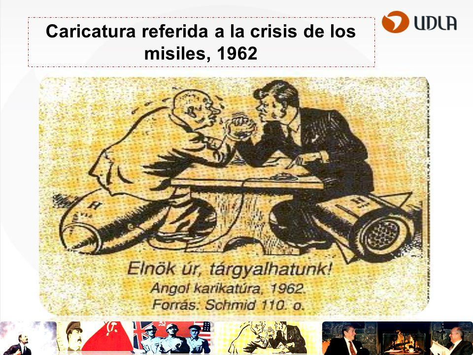 Caricatura referida a la crisis de los misiles, 1962