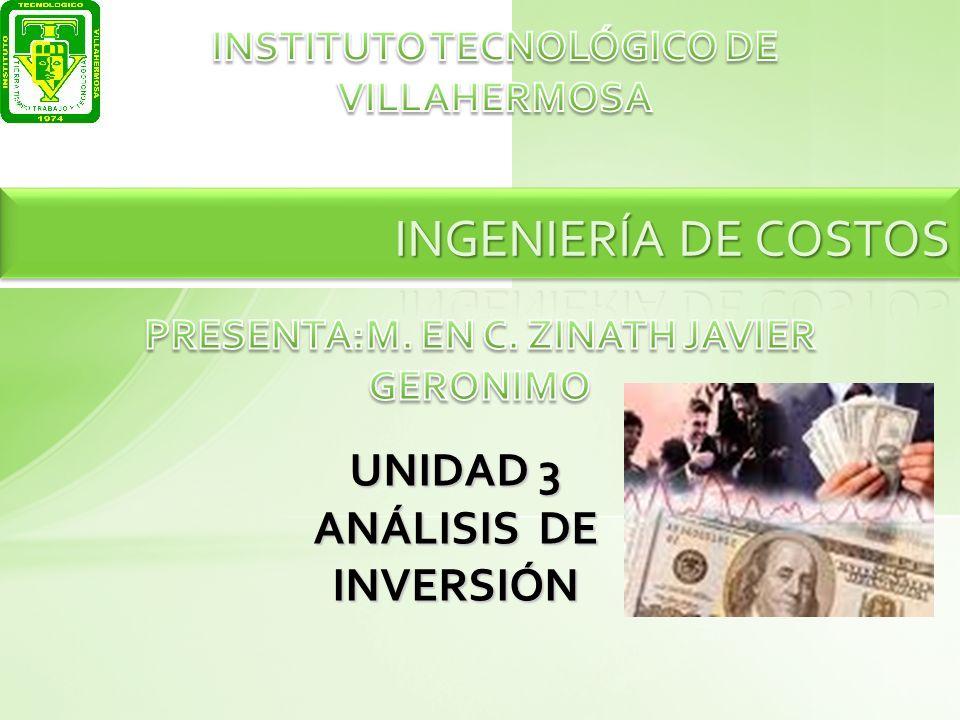 UNIDAD 3 ANÁLISIS DE INVERSIÓN