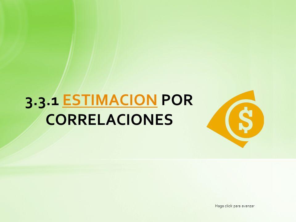 3.3.1 ESTIMACION POR CORRELACIONESESTIMACION Haga click para avanzar