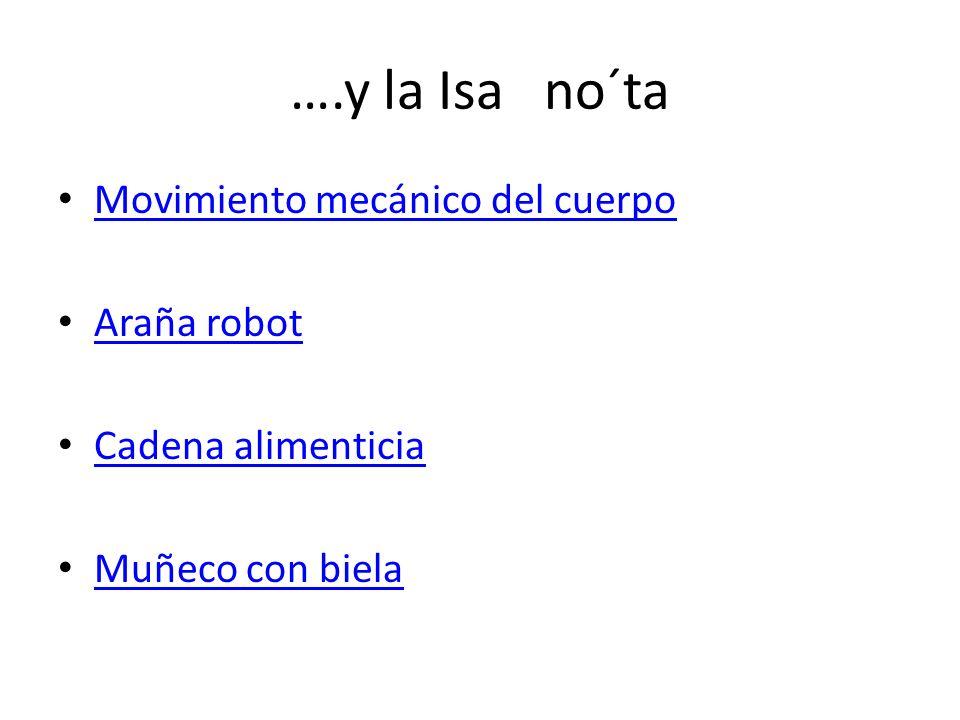 ….y la Isa no´ta Movimiento mecánico del cuerpo Araña robot Cadena alimenticia Muñeco con biela