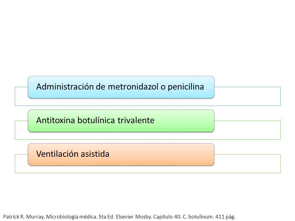 Destrucción de las esporas de los alimentos (pH ácido, -4C) Destrucción de la toxina preformada por calor (60-100 C) Patrick R. Murray. Microbiología