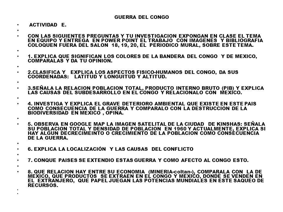 GUERRA DEL CONGO ACTIVIDAD E.