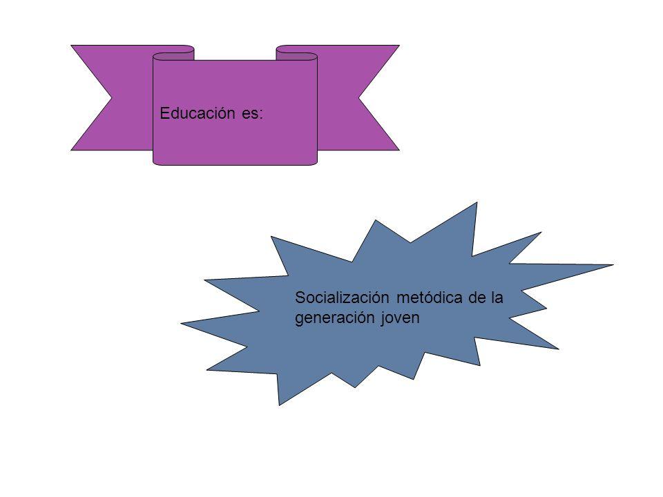 Socialización metódica de la generación joven Educación es: