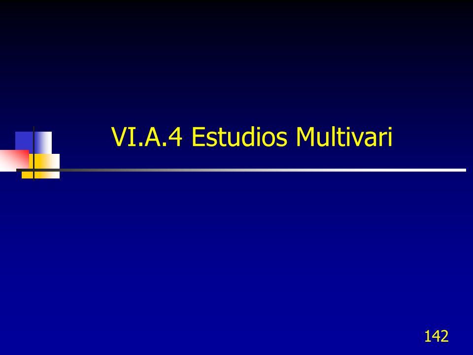 142 VI.A.4 Estudios Multivari