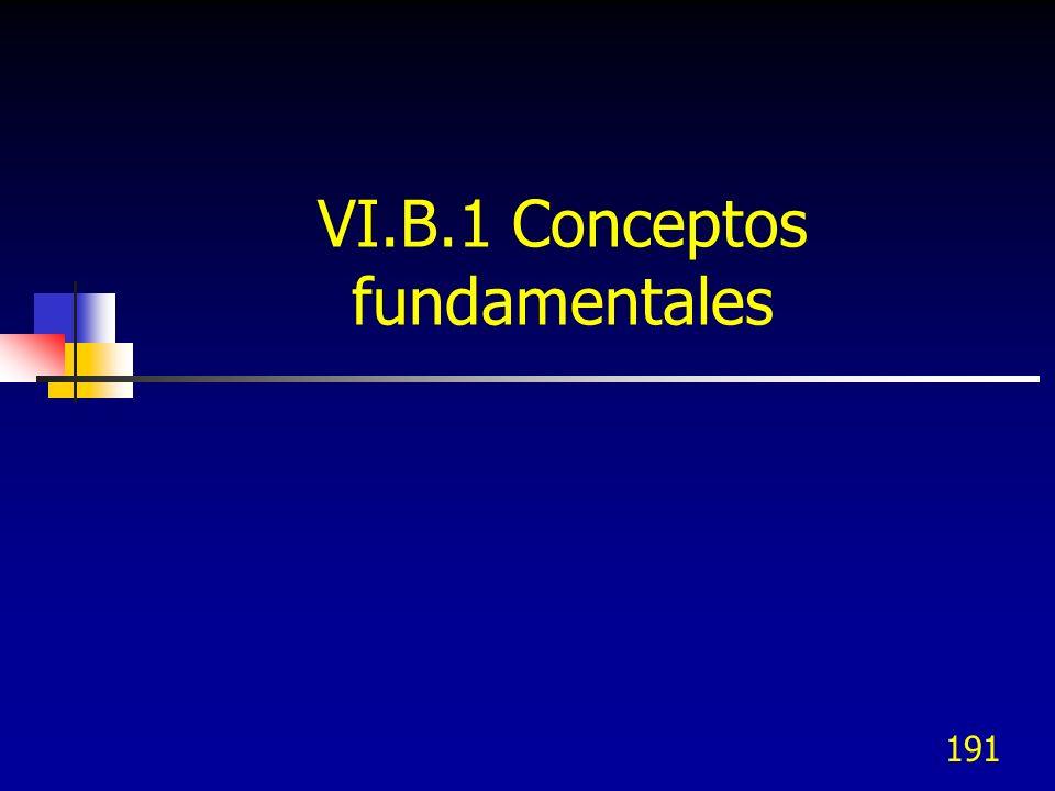 191 VI.B.1 Conceptos fundamentales