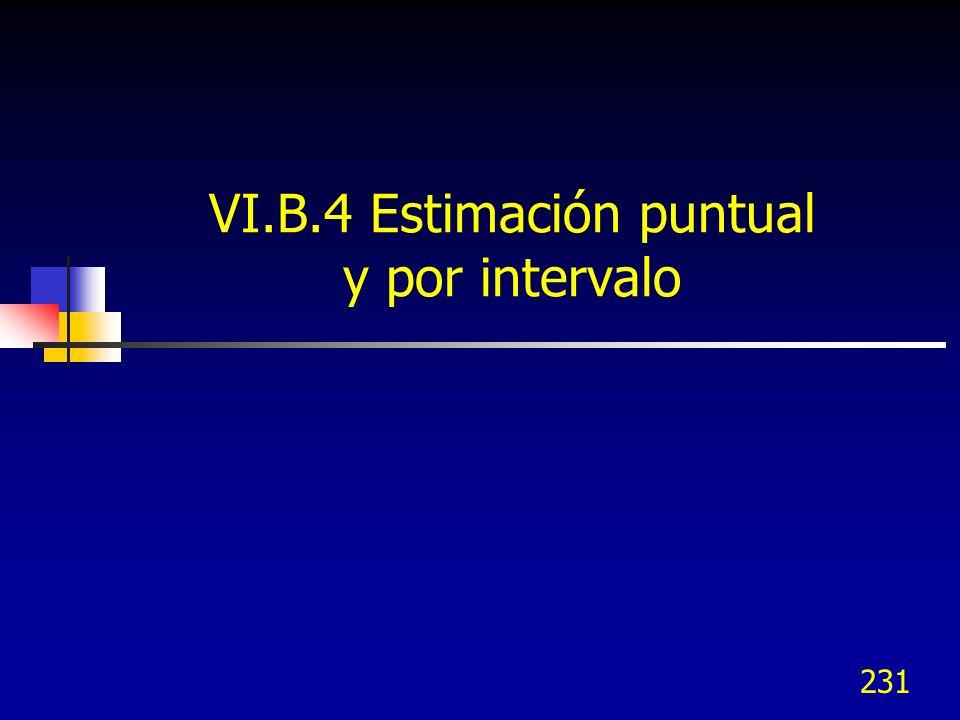 231 VI.B.4 Estimación puntual y por intervalo