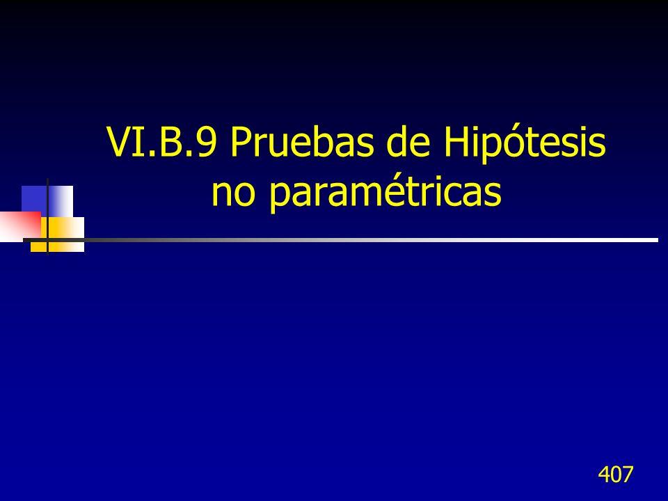 407 VI.B.9 Pruebas de Hipótesis no paramétricas
